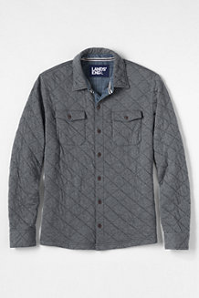 Men's Quilted Jersey Shirt Jacket