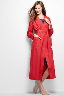 Women's Plain Flannel Dressing Gown