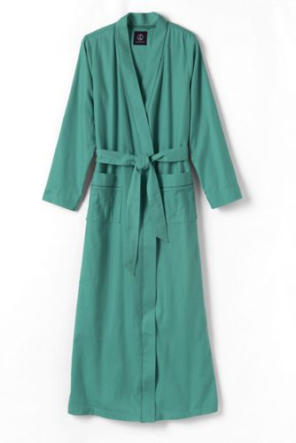 Women's Regular Plain Flannel Dressing Gown
