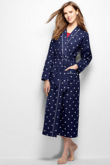 Women's Patterned Flannel Dressing Gown