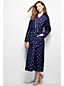 Women's Regular Patterned Flannel Dressing Gown