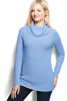 Women's Cotton Shaker Cowl Neck