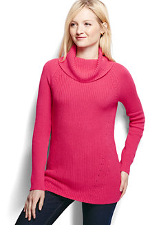 Women's Cotton Shaker Cowl Neck
