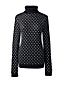 Women's Petite Supima Bubble Jacquard Roll Neck