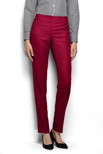 Le Pantalon Coupe 2 Jambes Slim Uni, Femme Taille Standard