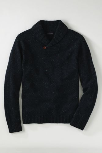 Men's Regular Shawl Collar Donegal Sweater
