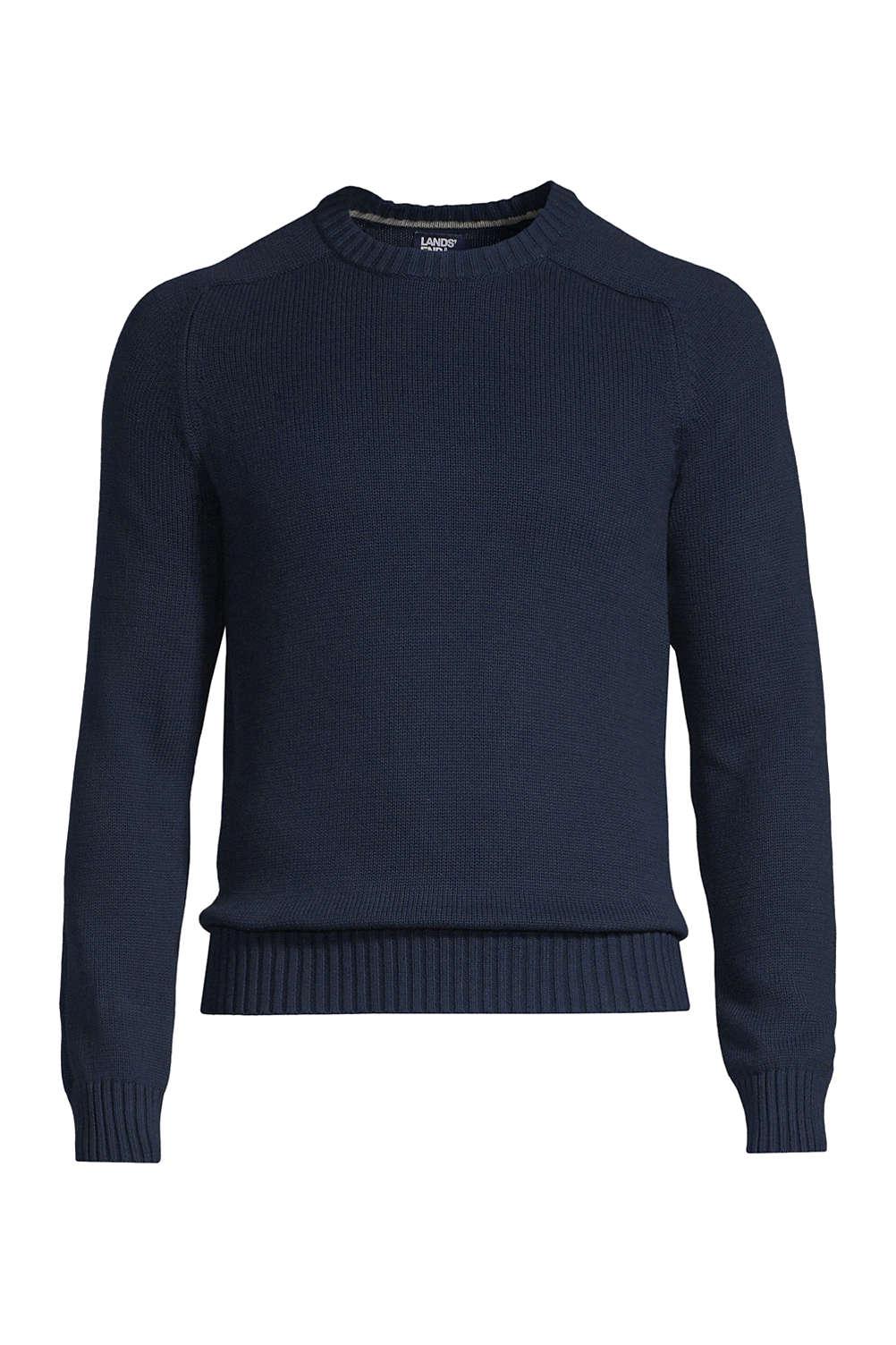 727b099af81f Men s Drifter Cotton Crew Sweater from Lands  End