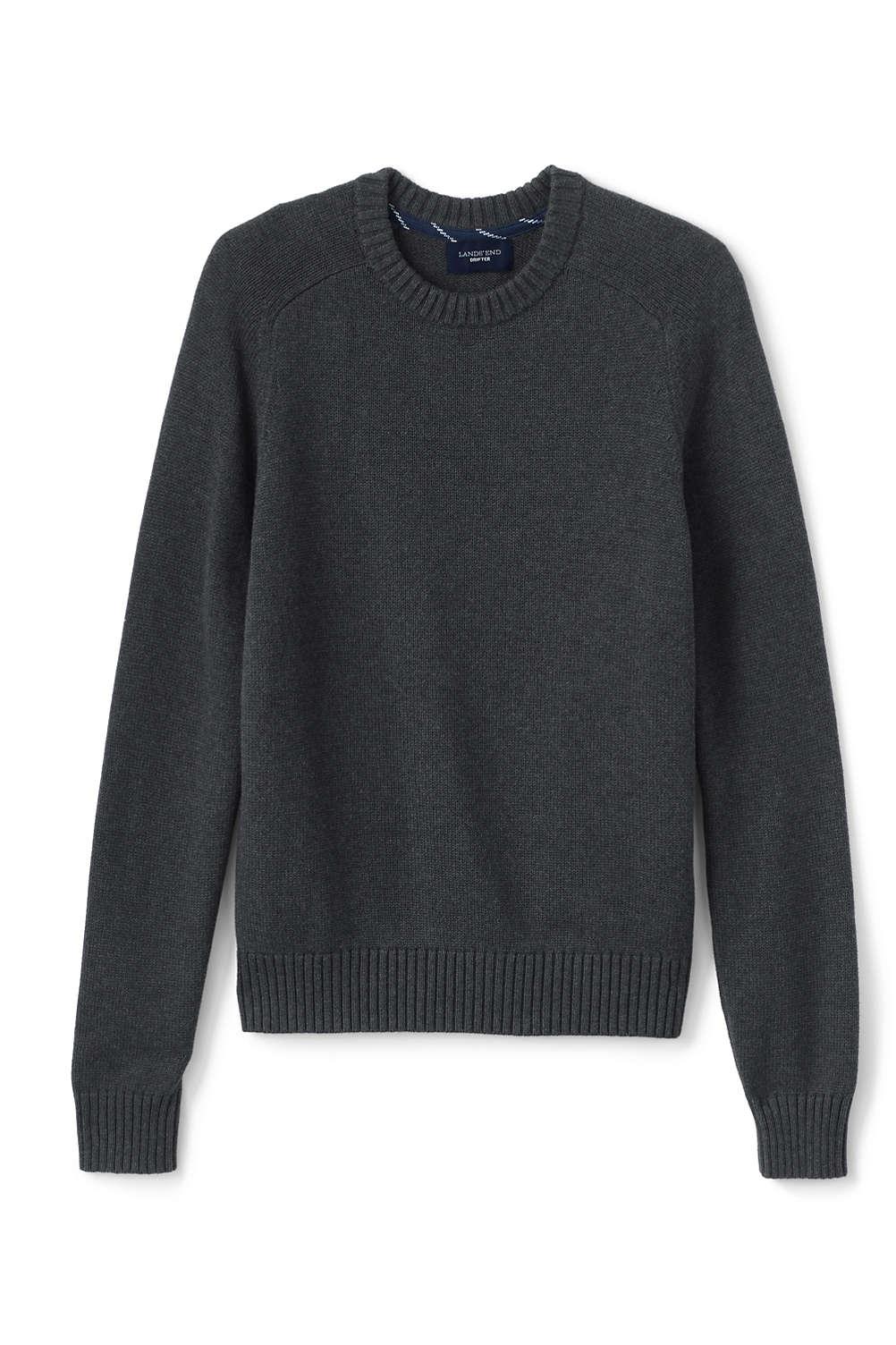 Men s Drifter Cotton Crew Sweater from Lands  End 59e9a56f3
