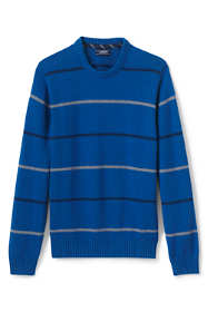 Men's Tall Drifter Cotton Stripe Crew Sweater