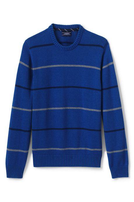 Men's Tall Drifter Cotton Stripe Crew Sweater