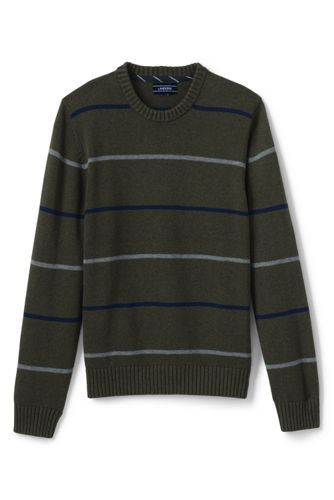 Men's Regular Striped Drifter Cotton Jumper