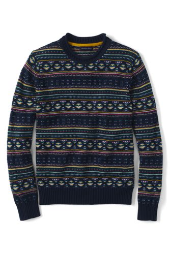 Men's Regular Fair Isle Shaker Sweater