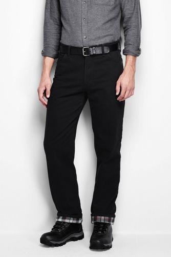 Men's Regular Flannel-lined Coloured Jeans