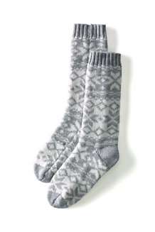 Kids' Fairisle Knit Slipper Sock