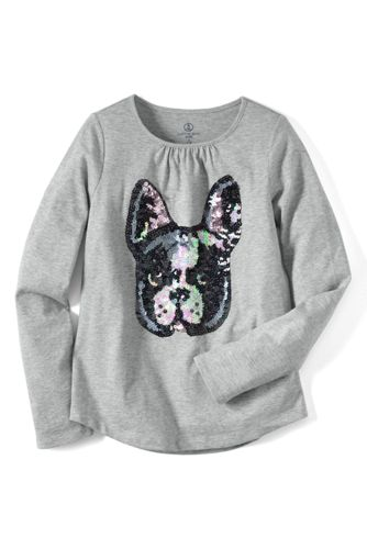 Little Girls' Embellished Graphic Tee