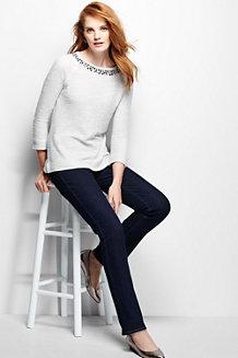 Women's Embellished 3-Quarter Raglan Sleeve Top