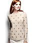 Women's Regular Classic Cashmere Long Sleeve Dots Pattern Jumper