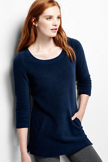 Women's Fleece 3-Quarter Sleeve Tunic