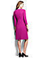 Women's Regular Notched Neck Ponte Shift Dress