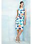 Women's Regular Digital Print Welt Pocket Shift Dress