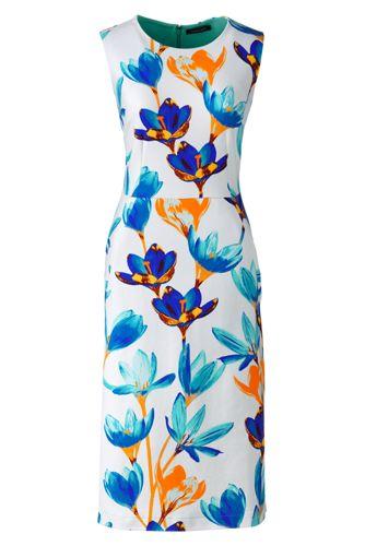 Ärmelloses Ponté-Etuikleid mit floralem Print für Damen