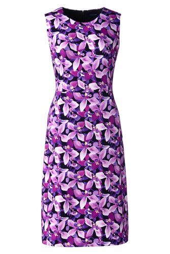 Women's Regular Digital Print Welt Pocket Shift Dress