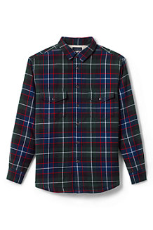 Men's Sherpa-lined Flannel Shirt Jacket
