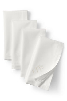 Set of Four Cotton Sateen Napkins