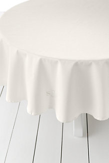 Circular Cotton Sateen Tablecloth