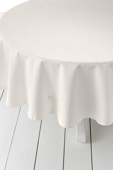 No Iron Round Tablecloth 70