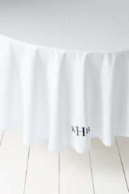 No Iron Round Tablecloth 70