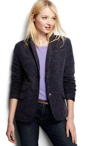 Women's Regular Donegal Knit Blazer