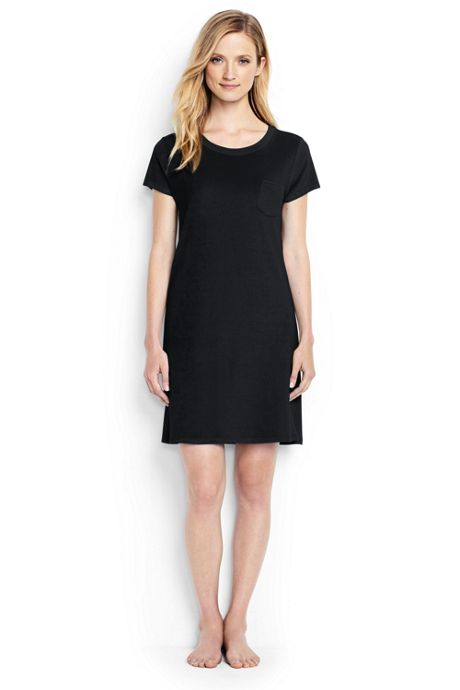 Women's Terry T-shirt Dress Cover-up
