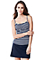 Women's Regular Striped D-Cup Beach Living Tankini Top