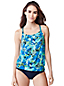 Women's Regular Beach Living Floral Blouson Tankini Top