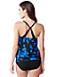 Women's Regular D-Cup Beach Living Blossom Print Blouson Tankini Top