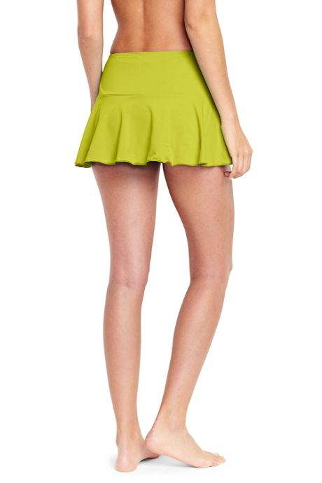 Women's Flounce Mini SwimMini Swim Skirt with Tummy Control