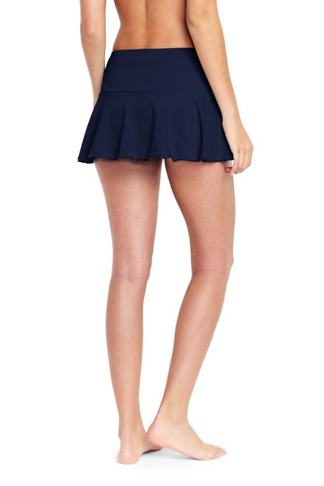 Women's Petite Flounce Mini SwimMini Swim Skirt with Tummy Control