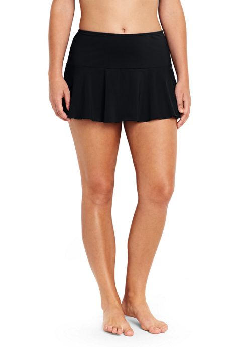 Women's Plus Size Flounce Mini SwimMini Swim Skirt with Tummy Control