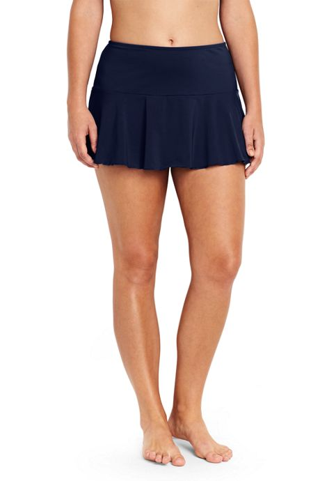 Women's Plus Size Flounce Tummy Control Swim Skirt Mini SwimMini