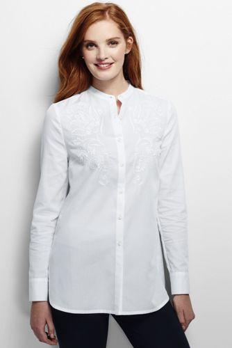 La Tunique Brodée Unie, Femme Taille Standard