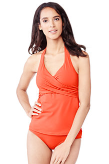 Women's Beach Living Halterneck Tankini Top