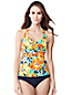 Women's Regular Beach Living Floral Halterneck Tankini Top
