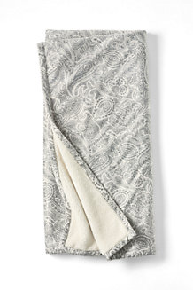 Print Sherpa Fleece Throw