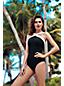 Shape & Enhance Badeanzug mit gekreuztem Ausschnitt