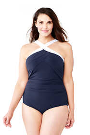 Women's Plus Size Shaping High-neck One Piece Swimsuit