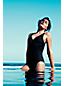 Le Maillot de Bain Une Pièce Amincissant Silhouette Col en V Femme, Stature Standard