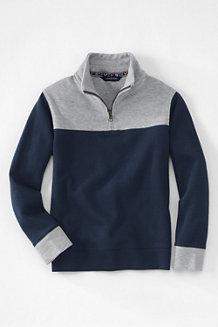 Boys' Bedford Rib Half-zip Polo Neck Sweater