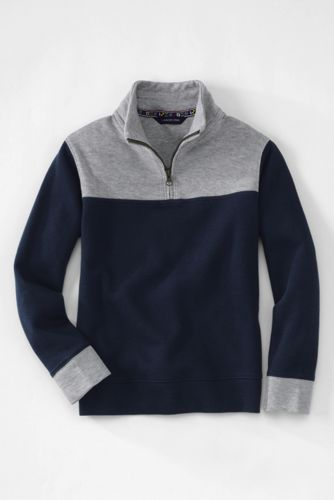 Little Boys' Bedford Rib Half-zip Polo Neck Sweater