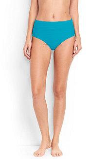 Women's Textured High Waist Bikini Bottoms